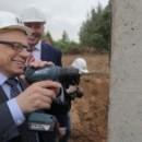 В индустриальном парке «Череповец» установили первую сваю под новый завод